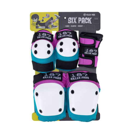 187 Junior Six Pack - Pink/Teal