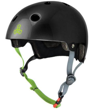 Triple 8 Helmet Brainsaver Black Glossy Dual Certified