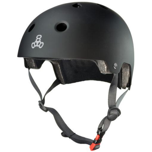 Triple 8 Helmet Brainsaver Black Rubber Dual Certified