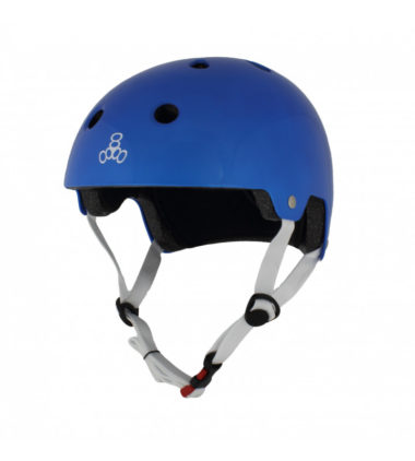 Triple 8 Helmet Brainsaver Blue Metallic Dual Certified