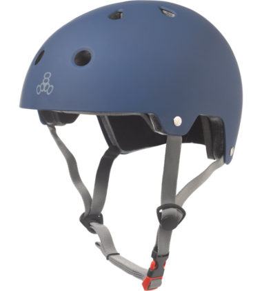 Triple 8 Helmet Brainsaver Blue Rubber Dual Certified