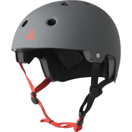 Triple 8 Helmet Brainsaver Gun Metal Matte Dual Certified