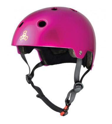 Triple 8 Helmet Brainsaver Pink Metallic Dual Certified
