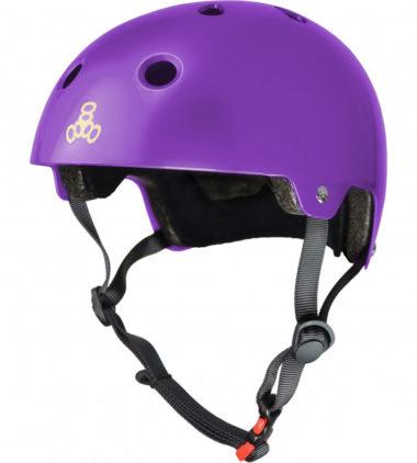 Triple 8 Helmet Brainsaver Purple Glossy Dual Certified