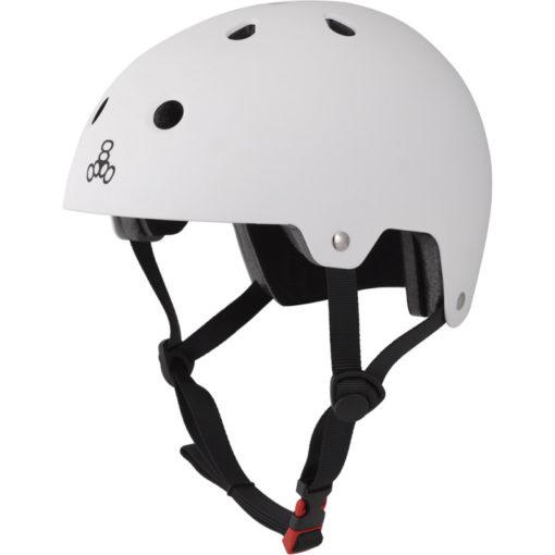 Triple 8 Helmet Brainsaver White Rubber Dual Certified