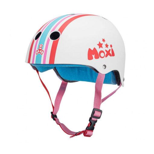 Triple 8 Moxi Skates Stripey Helmet - The Certified Sweatsaver